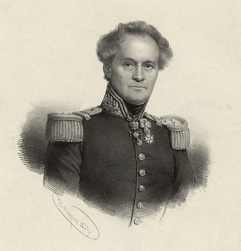 Dowódca Powstania Listopadowego Jan Zygmunt Skrzynecki na litografii Charlesa Baugniet