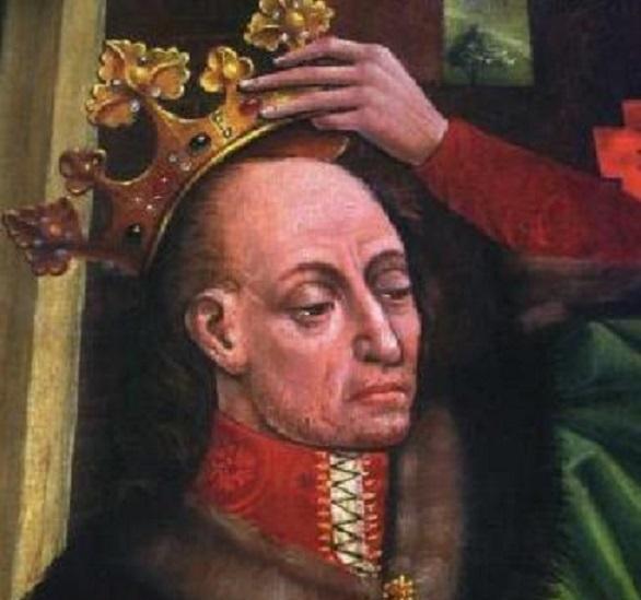 Elżbieta Granowska, żona Władysława Jagięłły nie była zbyt dobrze przyjęta na dworze w Krakowie - Król na obrazie z ołtarza z katedry na Wawelu