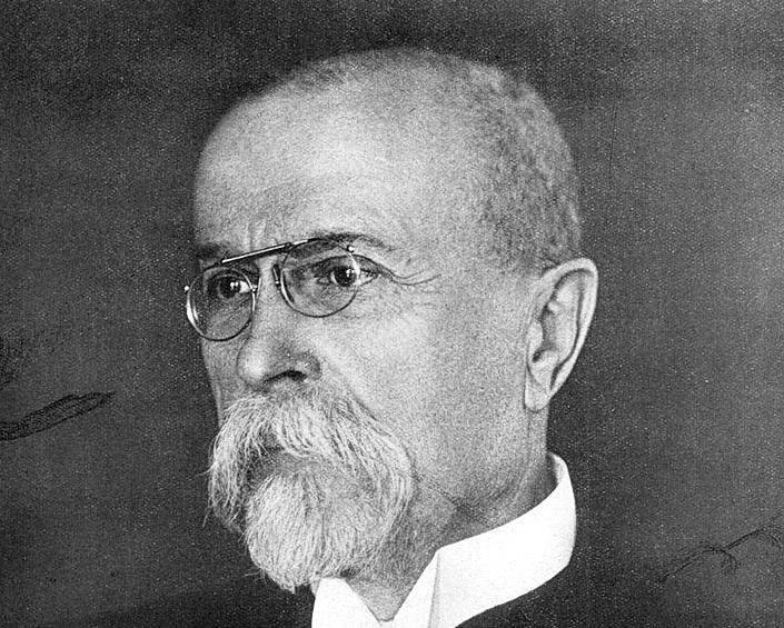 Tomas Masaryk ważna postać w historii Czechosłowacji i jej walki o niepodległość - na fotografii z 1925 roku.