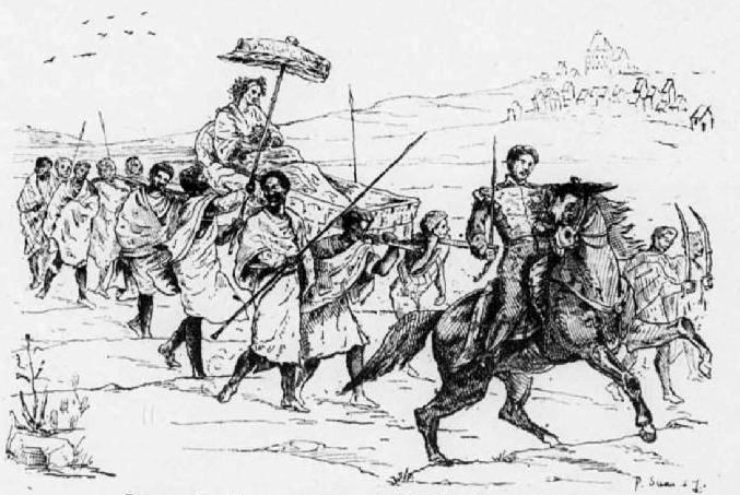 Królowa Ranavalona I niesiona w lektyce przez niewolników, a także inni dyktatorzy w historii świata oraz najważniejsze daty