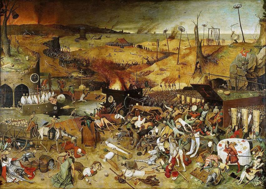 Czarna śmierć, jedna z największych epidemii na świecie, na obrazie Tryumf śmierci Petera Breugla