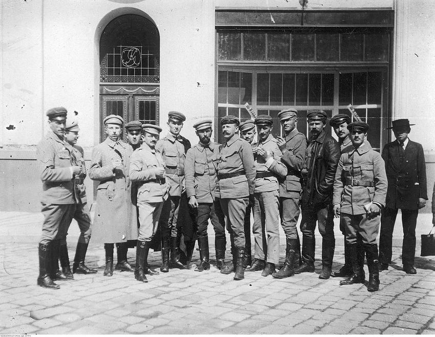 Związek Walki Czynnej, czyli Organizacja Bojowa Polskiej Partii Robotniczej na początku XX wieku - fotografia z 1914 r.
