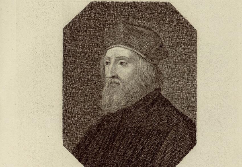 Jan Huss na obrazie Fridricha Borlingera, a także dlaczego Władysław Jagięłło odmówił przyjęcia korony Czech