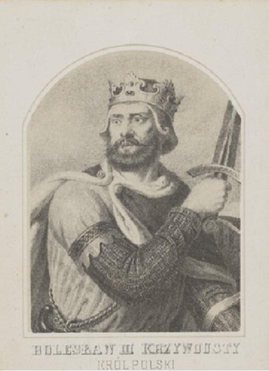 Bolesław III Krzywousty Król Polski na rycinie Aleksandra Lessera, a także daty panowania, biografia, historie i informacje