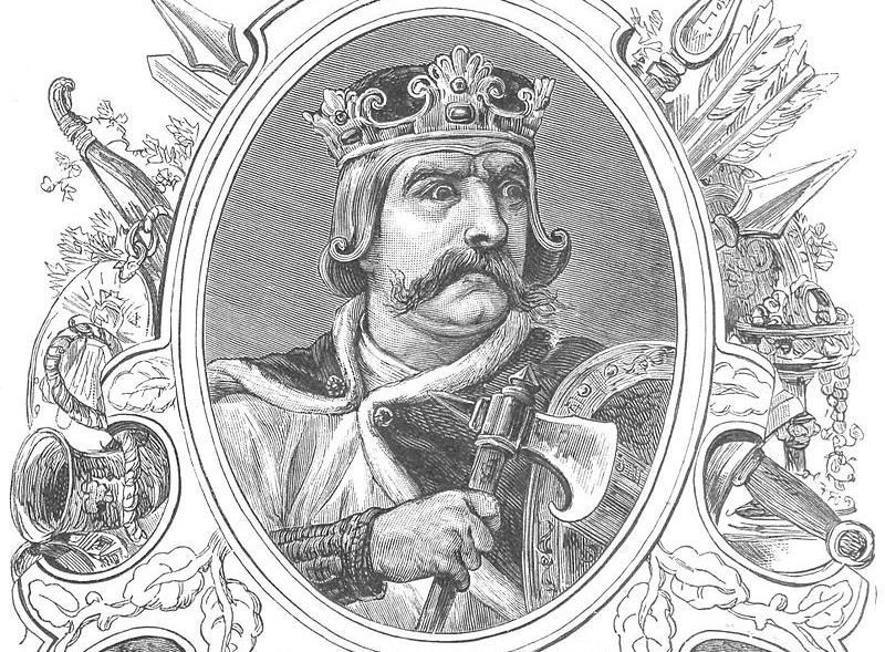 Bolesław Krzywousty król Polski na obrazie Ksawetrego Pillatiego, który rozpoczął rozbicie dzielnicowe w Polsce, a także przyczyny i skutki wydarzenia