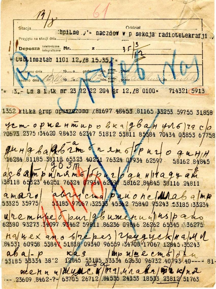 Szyfrogram przechwycony przez polskich żołnieży w czasie Bitwy Warszawskiej 1920 r, a także dokładne daty, przyczyny, przebieg i znaczenie międzynarodowe
