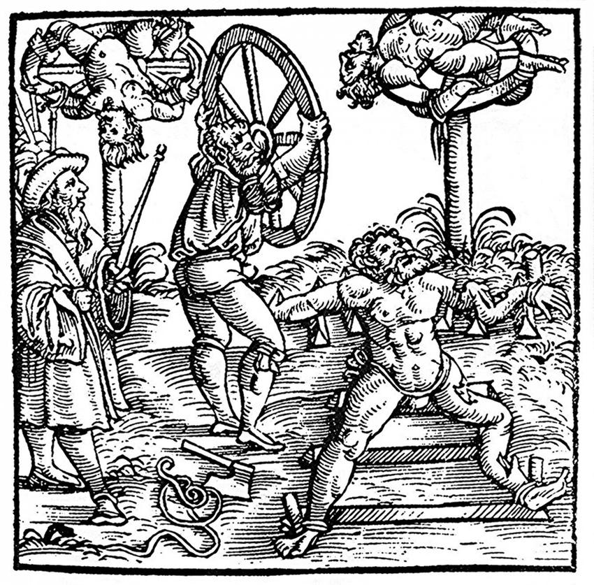 Łamanie kołem, czyli jedna z 10 najbardziej okrutnych tortur w Średniowieczu, ich przebieg i znaczenie