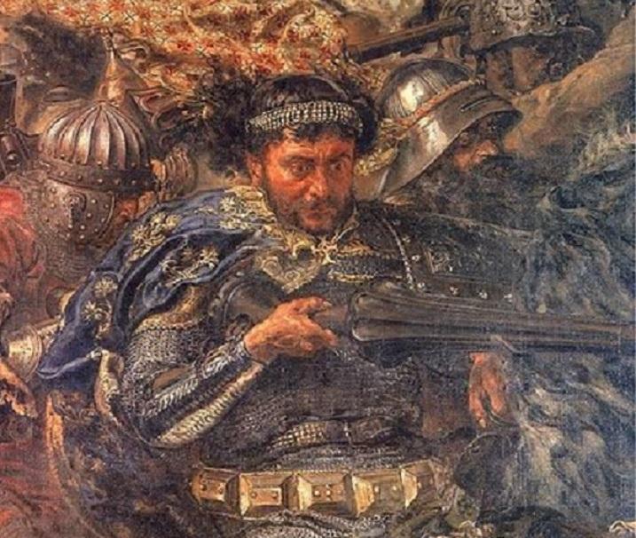 Zawisza Czarny na obrazie Jana Matejki Bitwa pod Grunwaldem, a także jego pochodzenie, osiągnięcia, bitwy, historia oraz herb