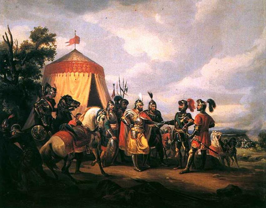 Wojska szykujące się do bitwy pod Grunwaldem na obrazie Feliksa Sypniewskiego, a także 10 najważniejszych bitew w historii Polski