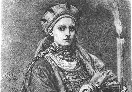 Dobrawa Przemyślidka księżna Polski władała około 12 lat - tutaj na obrazie Jana Matejki