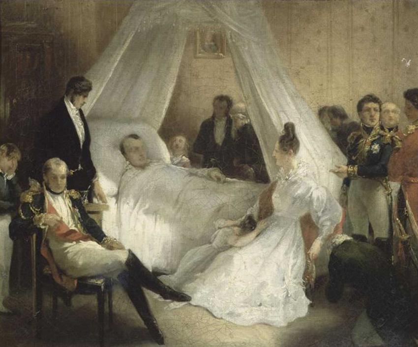 Napoleon Bonaparte na łożu śmierci na obrazie Charlesa de Stubena, a także rola Napoleona w historii, najważniejsze wydarzenia i śmierć