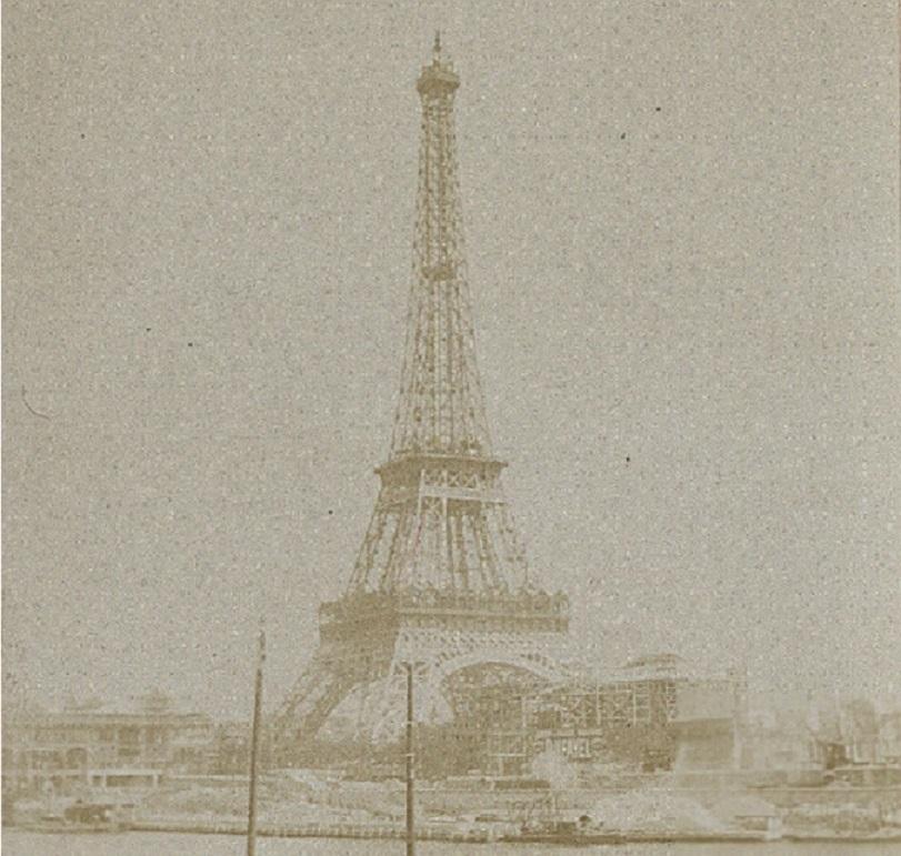 Rycina przedstawiająca wierzę Eiffla tuż po jej wzniesieniu, a także znaczenie budowli, jej projekt i pomysłodawcy, koszt oraz najważniejsze parametry