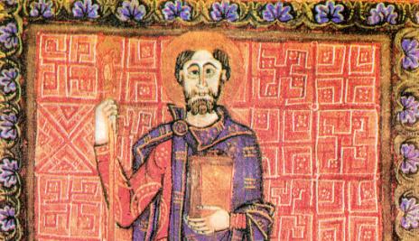 Henryk II Święty po objęciu władzy na rycinie z Biblioteki Miejskiej w Bamberg