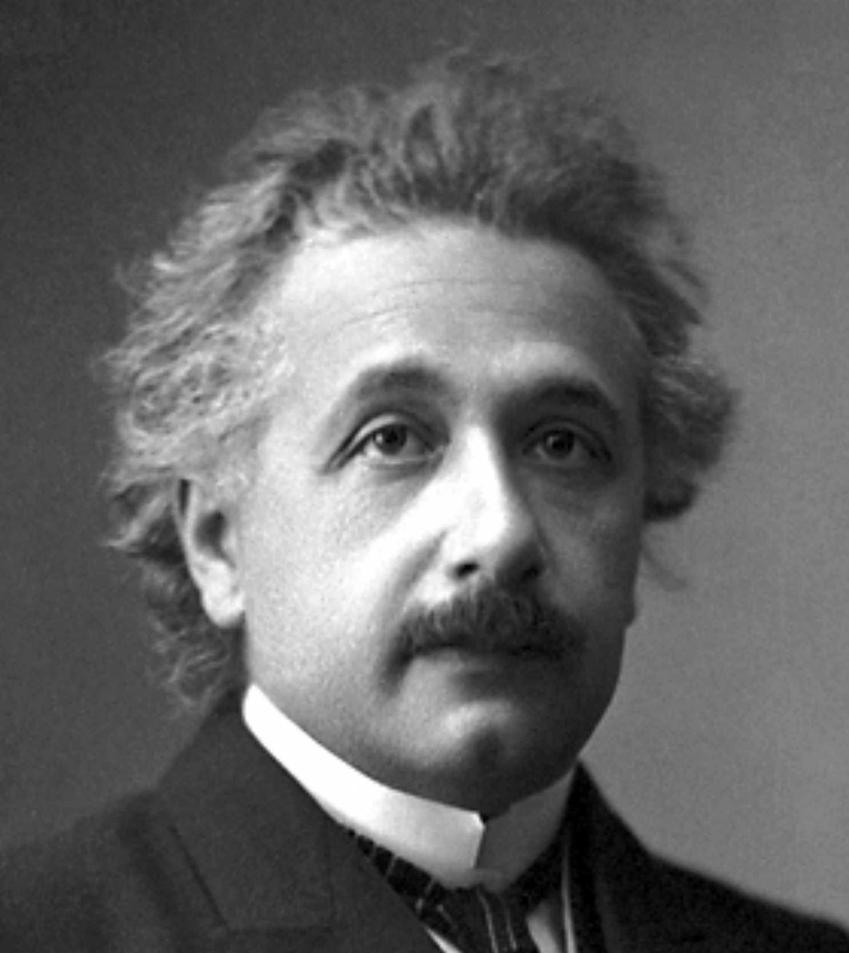 Albert Einstein na zdjęciu portretowym po odebraniu nagrody Nobla, a także najbardziej inspirujące cytaty z Alberta Einsteina
