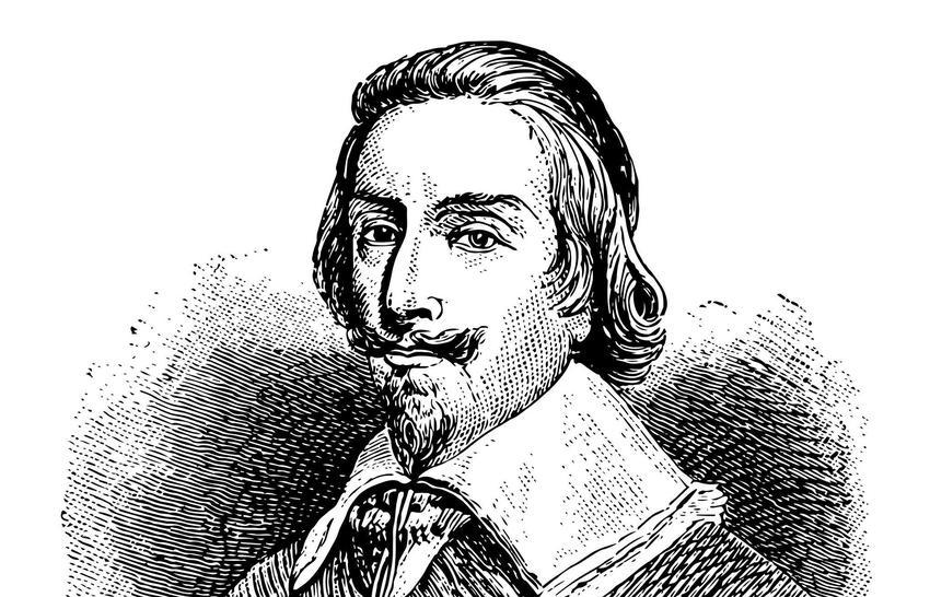 Kardynał Richelieu na rycinie, a także infromacje o tej postaci, życiorys, wykształcenie, pochodzenie, rola w historii Francji