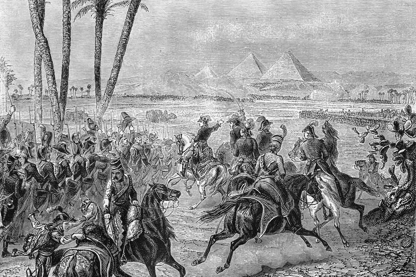 Wyprawa Napoleona do Egiptu i wydarzenia z tym związane, a także dokładna data, przyczyny i przebieg