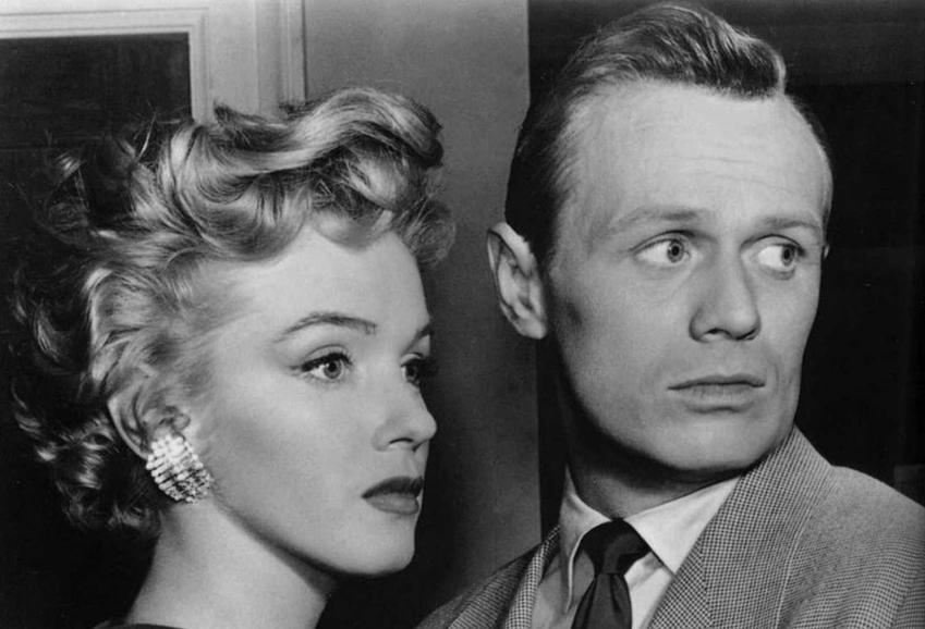 Marylin Monroe i Richard Widmark na planie filmu Proszę nie pukać, a także inne filmy z Marilyn Monroe