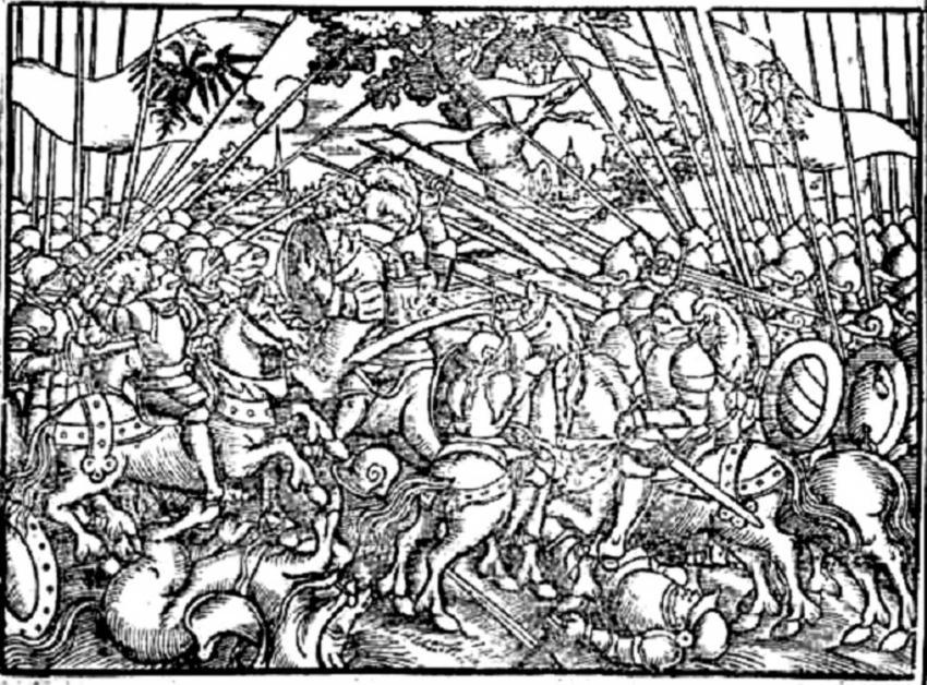 Rycina bitwy na Psim Polu z Kroniki Polskiej Marcina Bielskiego, a także przebieg bitwy, strony konfliktu, znaczenie i skutki