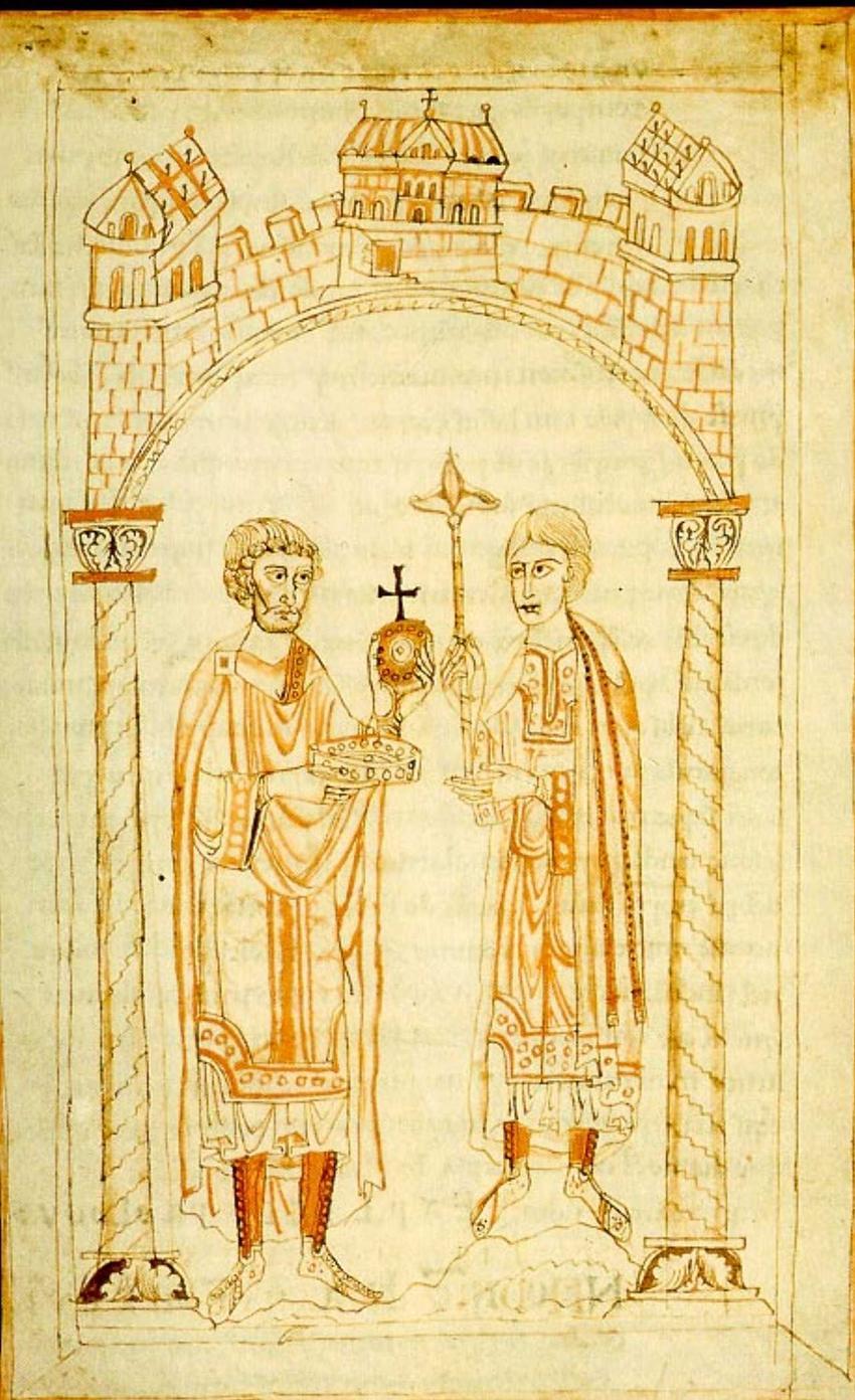 Henryk V na rycinie z Kroniki Ekharta von Aura, a także strony konfliktu, przebieg bitwy, skutki i przyczyny