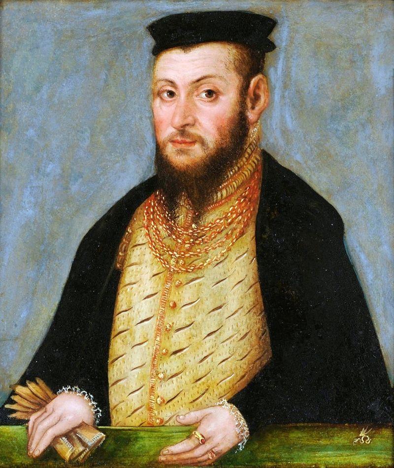 Zerwanie unii polsko-litewskiej przez króla Zygmunta Augusta - tutaj król na portrecie Lucasa Cranacha