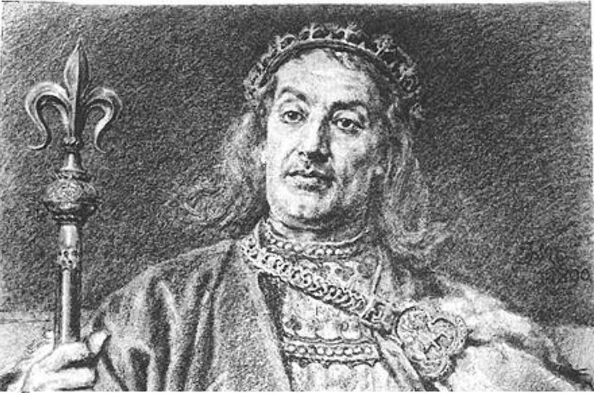 Władysław Laskonogi w wyobrażeniu Jana Matejki na obrazie z Pocztu Królów Polski, a także informacje o władcy