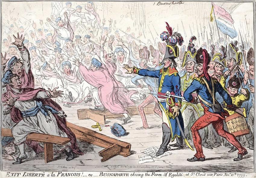 Satyryczne przedstawienie przebiegu Rewolucji Francuskiej, a także przyczyny wybuchu rewolucji oraz co skoniło ludzi do powstania