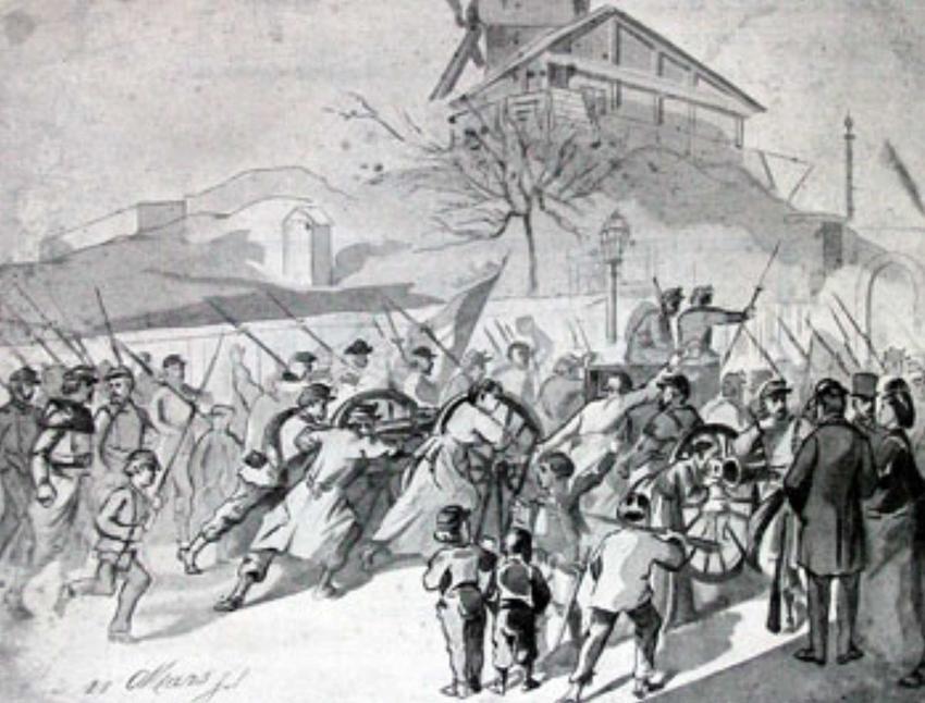 Powstańcy bronią dział z Montmartre'u, a także Komua Paryska, konflikt, przebieg, znaczenie, przyczyny oraz skutki