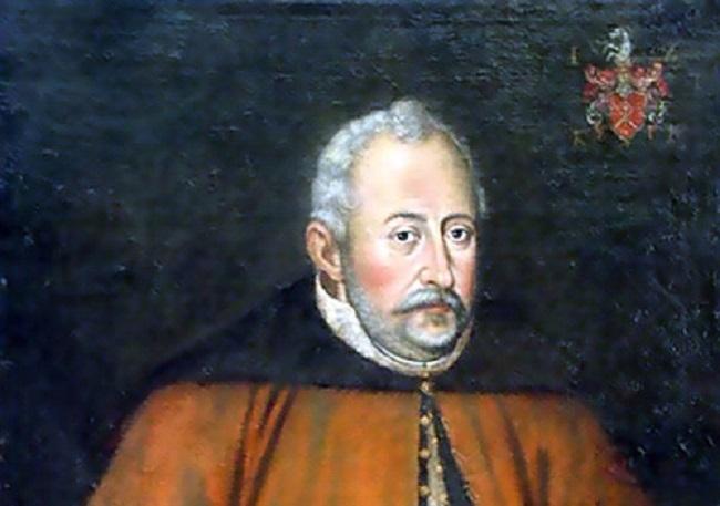 Jan Zamoyski na obrazie Jana Szwankowskiego, a także informacje o jego byciu rektorem w Padwie