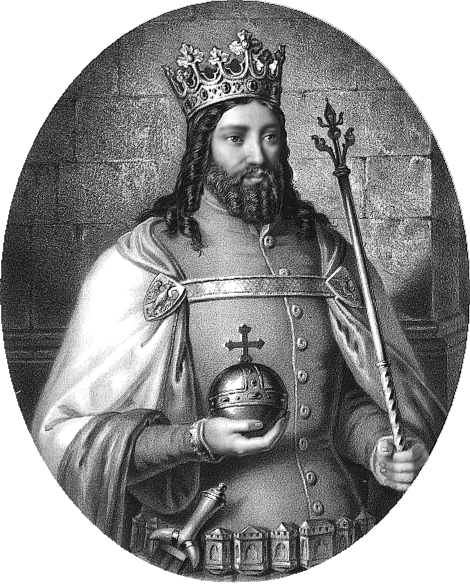 Król Kazimierz Wielki na obrazie Aleksandra Lessera przedstawiony jako wielki władca Polski