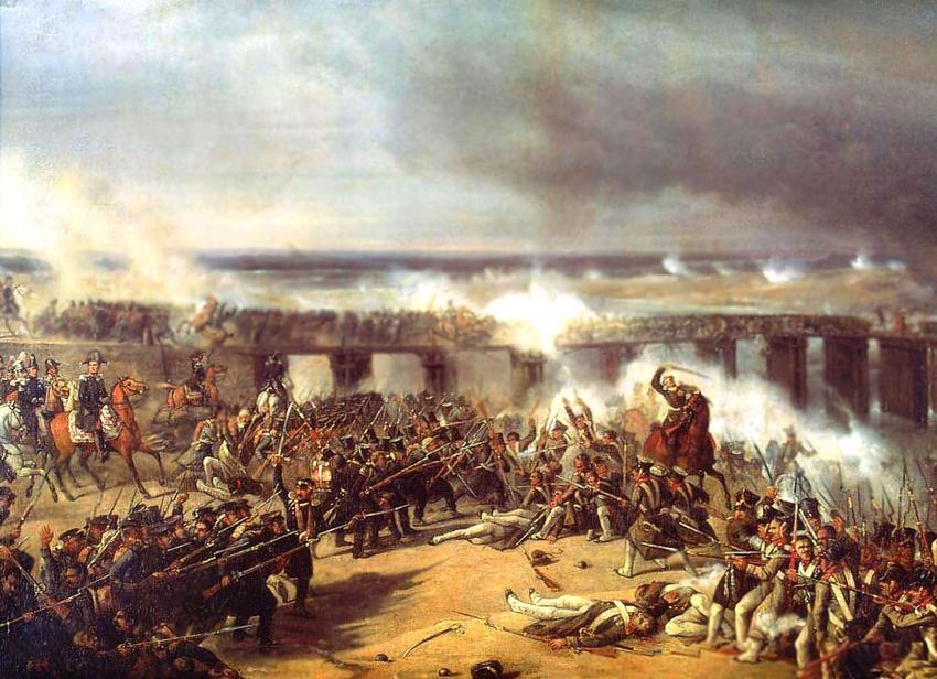 Powstanie listopadowe 1830-1831 r. miało burzliwy przebieg i wiązało się z wieloma bitwami różnego rodzaju - obraz przedstawia Bitwę pod Ostrołęką Karola Malankiewicza