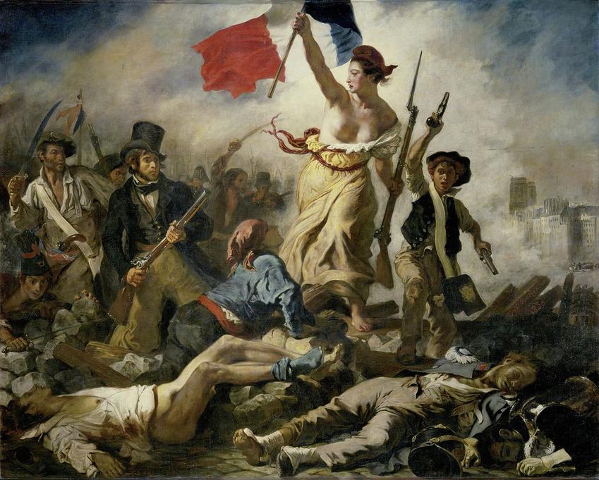 Zdobycie Bastylii to pierwszy krok w Rewolucji Francuskiej - Wolność wiodąca lud na barykady Eugene Delacroix
