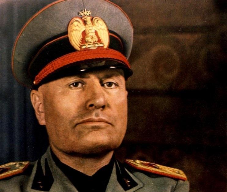 Benito Mussolini, czyli duce, przywódca Włoch w latach trzydziestych i w czasie II Wojny Śwatowej