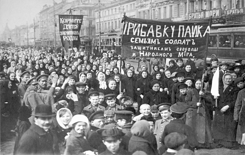 Rewolucja paźdzerinikowa to ruch robotniczy - zdjęcie z demonstracji robotników z Zakładów Putiłowskich