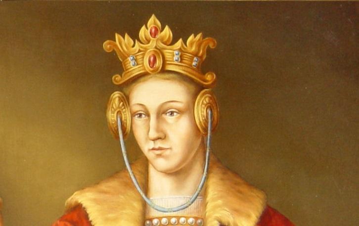 Elżbieta córka Kazimierza Wielkiego i Anny Giedyminówny na obrazie z Zamku Książąt Pomorskich