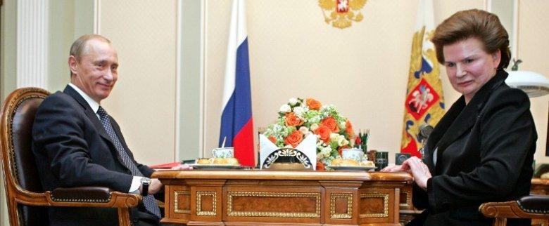 Walentyna Tierieszkowa z prezydentem Rosji Władimirem Putinem