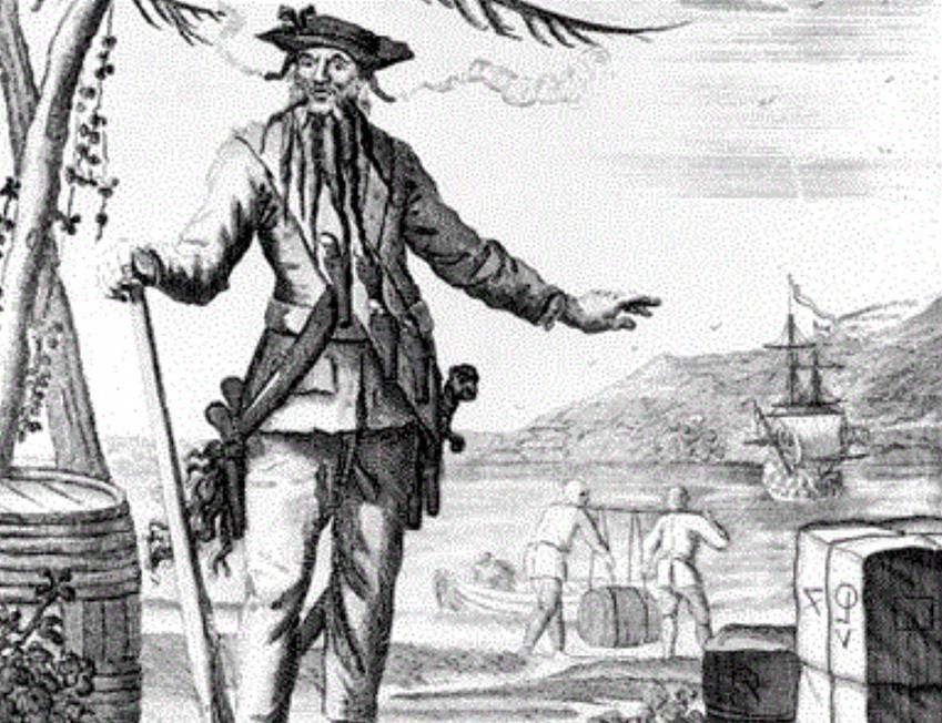 Czarnobrody, czyli pirat z XVIII wieku - najgroźniejszy pirat w historii Karaibów, jego zbrodnie, ofiary i historia