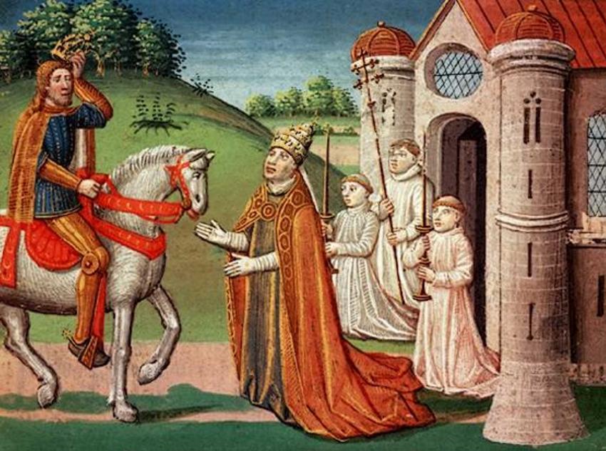 Koronacja Karola Wielkiego krok po kroku, czyli przebieg wydarzenia, data, ceremonia, relacje Karola z Papieżem
