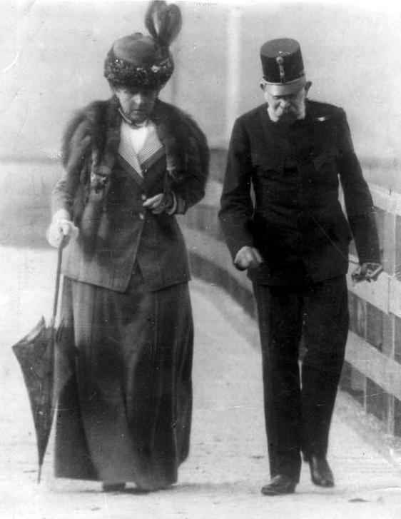 Franciszek Józef I i Katharina Schratt, zdjęcie wykonane około 1910 roku