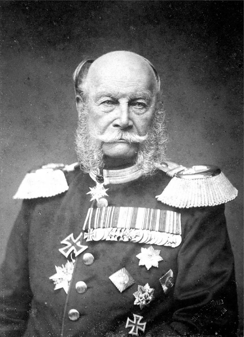 Sojusz Trzech Cesarzy podpisał reprezentujący Prusy cesarz Wilhelm I - fotografia z końca XIX wieku
