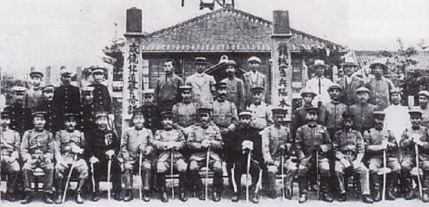 Kempeitai japońska żandarmeria wojskowa nie cieszyła się dobrą sławą - na fotografii żołnierze po zdobyciu Korei na początku XX wieku