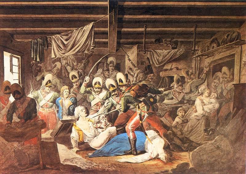 Rzeź Pragi to wydarzenie, które miało miejsce w czasie obrony Pragi w 1794 roku - obraz Aleksandra Orłowskiego