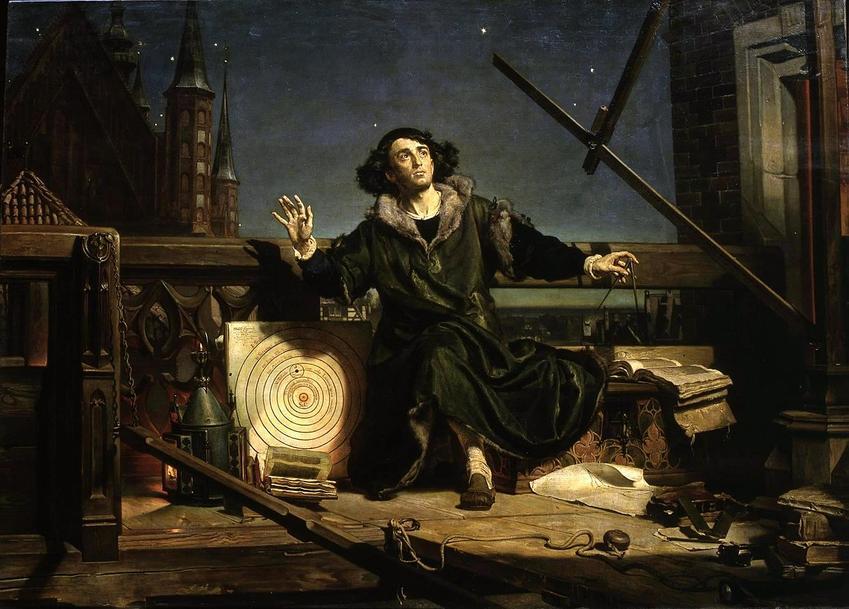 Najważniejsze wydarzenia świata, czyli wydanie przez Kopernika traktatu O obrotach ciał niebieskich - Kopernik na obrazie Rozmowa z Bogiem Jana Matejki