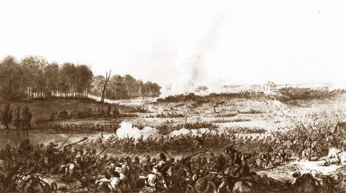 Powstanie kościuszkowskie zaczęło przegrywać od feralnej bitwy pod Maciejowicami - wyborażenie Aleksandra Orłowskiego, pole bitwy z punktu widzenia Rosji