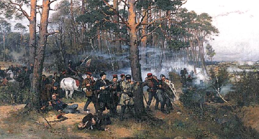 Bitwy powstania styczniowego to drobne potyczki, których przebieg był bardzo zaskakujący - obraz Ajdukiewicza