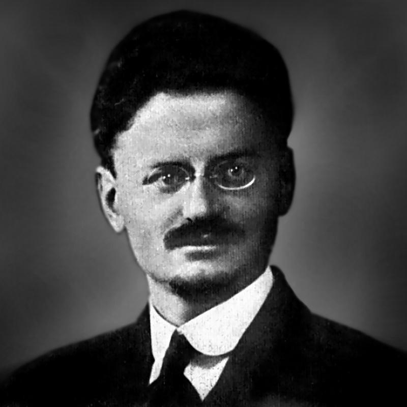 Lew Trocki, rewolucjonista i prekursor prądu zwanego trockizmem na zdjeciu z początku XX wieku