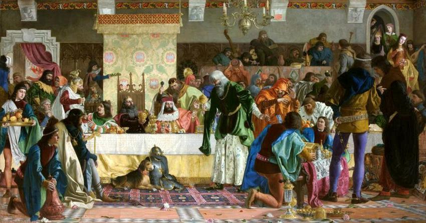 Uczta u Wierzynka to jedno z największych wydarzeń dla całej Europy, zjazd wielu różnych monarchów na obranie Abramowicza z XIX wieku