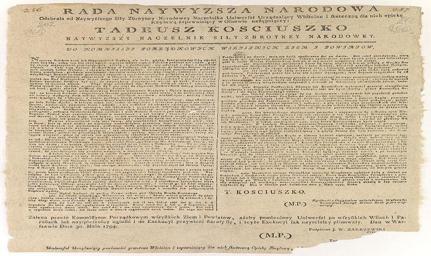 Uniwersał połaniecki, czyli treść oraz postanowienia dokumentu - fotografia przedstawiająca dokument