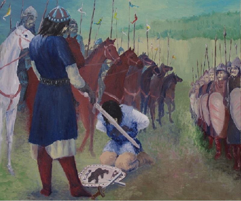 Bitwa pod Cedynią to ważne wydarzenie w dziejach narodu Polskiego, została upamiętniona na obrazie Andrzeja Grabowksiego Bitwa pod Cedynią 972 r.