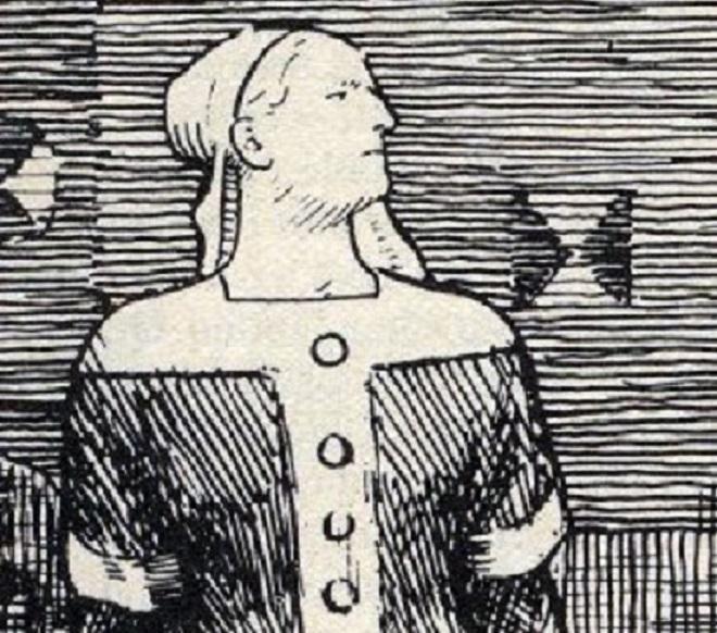 Świętosława, córka Kazimierza Wielkiego i żona Bolesława Chrobrego, żona Eryka Zwycięzkiego na obrazie Olafa Werenskiolda