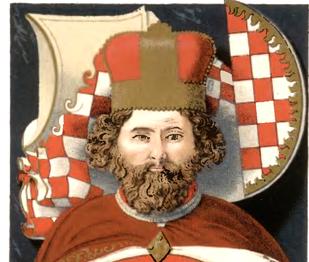 Bolko Świdnicki Mały na kolorowej reprodukcji rzeźby na nagrobku - zasługi, panowanie i biografia wyjątkowego piastowskiego księcia